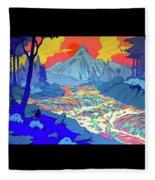Landscape River Fleece Blanket