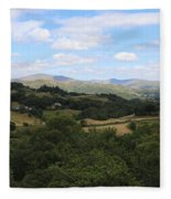 Landscape View From Little Langdale Fleece Blanket