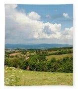 Landscape With Orchards Fleece Blanket