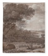 Landscape With The Rest On The F  Fleece Blanket