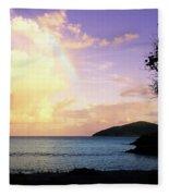 Last Rainbow Of The Day Fleece Blanket