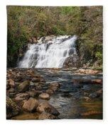 Laurel Falls In Spring I Fleece Blanket