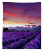 Lavender Season Fleece Blanket