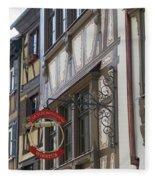 Le Tire Bouchon Winstub Sign Fleece Blanket