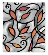 Leaves And Curves Art Nouveau Style Xii Fleece Blanket