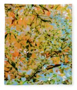 Leaves And Trees Fleece Blanket