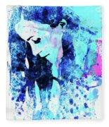 Legendary Alanis Morissette Watercolor Fleece Blanket