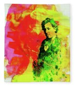 Legendary Bruce Watercolor Fleece Blanket