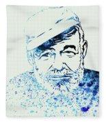 Legendary Hemingway Watercolor Fleece Blanket