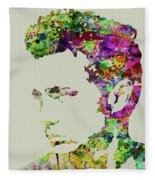 Legendary James Dean Watercolor Fleece Blanket