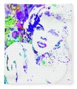 Legendary Judy Garland Watercolor I Fleece Blanket