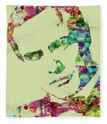 Legendary Marlon Brando Watercolor Fleece Blanket