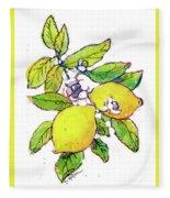 Lemons Fleece Blanket