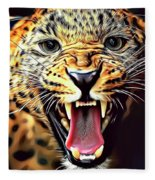 Leopard 2 Fleece Blanket