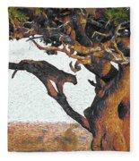 Leopard In A Tree Fleece Blanket