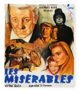 Les Miserables 1958 French Movie Classic Fleece Blanket