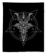 Leviathan Pentagram  Fleece Blanket