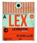 Lex Lexington Luggage Tag I Fleece Blanket