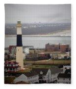 Lighthouse - Atlantic City Fleece Blanket