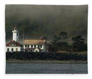 Lighthouse - Port Wilson Fleece Blanket