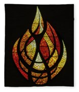 Lighting The Way - Wayland Kaltwasser Flame Fleece Blanket