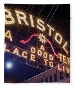 Lighting Up The Bristol Sign Fleece Blanket
