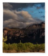 Light Play On The Superstitions  Fleece Blanket