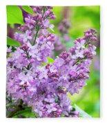 Lilac Flowers Fleece Blanket