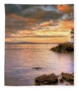 Lime Kiln Light House Fleece Blanket