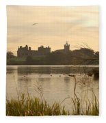 Linlithgow Palace At Dusk Fleece Blanket