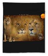 Lions No 02 Fleece Blanket