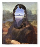 Lisa With A View Fleece Blanket