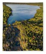 Litte Traverse Lake Vertical Panorama Fleece Blanket