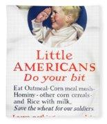 Little Americans Do Your Bit Fleece Blanket
