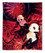 Little Glass Pandas 33 Fleece Blanket