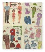Little Golden Book Paper Doll Sees America Fleece Blanket
