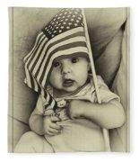 Little Patriot Fleece Blanket