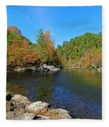 Little River From Little River Gorge Road At Townsend Entrance Fleece Blanket