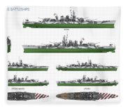 Littorio Class Battleships Fleece Blanket