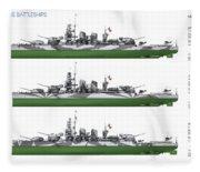 Littorio Class Battleships Port Side Fleece Blanket