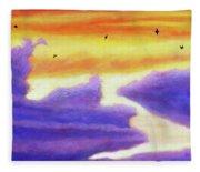 Living In The Sky Fleece Blanket