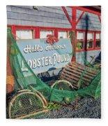 Lobster Pond Restaurant In Halls Harbour Ns Fleece Blanket
