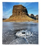 Lomagnupur Mountain Iceland Fleece Blanket