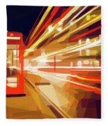 London Phone Box Fleece Blanket by ISAW Company