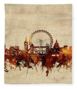 London Skyline Sepia Fleece Blanket