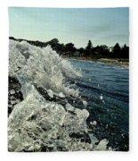 Look Into The Wave Fleece Blanket