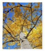 Look Up Fleece Blanket by Rick Furmanek