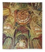 Looking Up Salamanca Cathedral Fleece Blanket