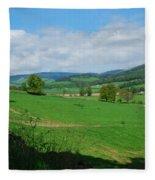 looking westwards in Tweed valley Fleece Blanket