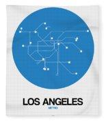 San Francisco Blue Subway Map Fleece Blanket